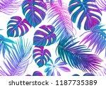 tropic leaves seamless pattern... | Shutterstock .eps vector #1187735389