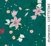 seamless floral trendy pattern... | Shutterstock .eps vector #1187737363