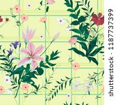 seamless floral pattern with... | Shutterstock .eps vector #1187737399