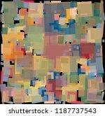 disheveled loose rectangles... | Shutterstock .eps vector #1187737543