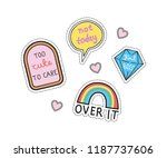 cute patches design | Shutterstock .eps vector #1187737606