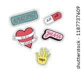 cute patches design | Shutterstock .eps vector #1187737609