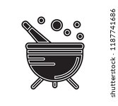 cauldron icon vector isolated... | Shutterstock .eps vector #1187741686