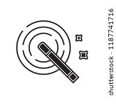magic wand icon vector isolated ... | Shutterstock .eps vector #1187741716