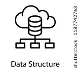 cloud database connected to... | Shutterstock .eps vector #1187742763