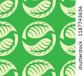 vector seamless floral pattern... | Shutterstock .eps vector #1187743636