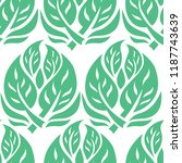 vector seamless floral pattern... | Shutterstock .eps vector #1187743639