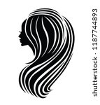 illustration of woman with... | Shutterstock .eps vector #1187744893