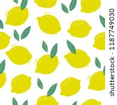 summer seamless pattern with... | Shutterstock .eps vector #1187749030