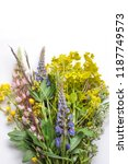 floral background with... | Shutterstock . vector #1187749573