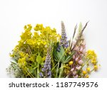 floral background with... | Shutterstock . vector #1187749576