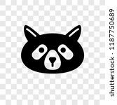 raccoon vector icon isolated on ... | Shutterstock .eps vector #1187750689