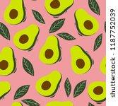 summer green seamless pattern... | Shutterstock .eps vector #1187752039