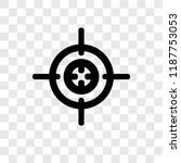 aim vector icon isolated on... | Shutterstock .eps vector #1187753053