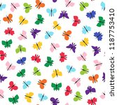 colorful butterfly seamless.... | Shutterstock .eps vector #1187753410