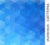 blue grid mosaic background ... | Shutterstock .eps vector #1187755966