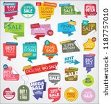 modern sale banners and labels... | Shutterstock .eps vector #1187757010