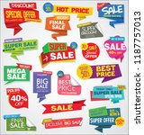 modern sale banners and labels... | Shutterstock .eps vector #1187757013