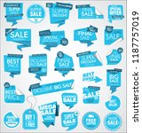 modern sale banners and labels... | Shutterstock .eps vector #1187757019