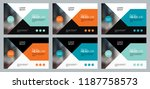 set abstract background... | Shutterstock .eps vector #1187758573
