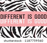 animal pattern and slogan... | Shutterstock .eps vector #1187759560