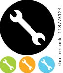 wrench   vector icon isolated   Shutterstock .eps vector #118776124