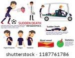 soccer player having a sudden... | Shutterstock .eps vector #1187761786