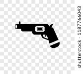 revolver vector icon isolated... | Shutterstock .eps vector #1187766043
