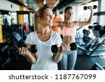 women working out in gym | Shutterstock . vector #1187767099