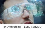 a man watches with futuristic... | Shutterstock . vector #1187768230