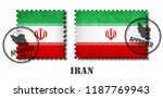 iran or iranian flag pattern... | Shutterstock .eps vector #1187769943