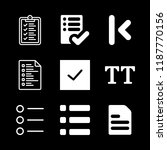 checklist icons set with list... | Shutterstock .eps vector #1187770156