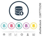 database down flat color icons... | Shutterstock .eps vector #1187773150