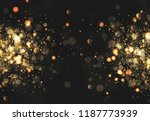 christmas golden lights.... | Shutterstock .eps vector #1187773939