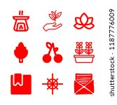 flower icons set with flowers ... | Shutterstock .eps vector #1187776009