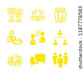 collaboration icons set with... | Shutterstock .eps vector #1187778583