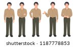 indian businessman in various... | Shutterstock .eps vector #1187778853