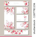 floral spring templates with... | Shutterstock .eps vector #1187781136