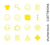 16 positive icons with t shirt... | Shutterstock .eps vector #1187784346