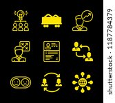 9 coach icons with summary and... | Shutterstock .eps vector #1187784379