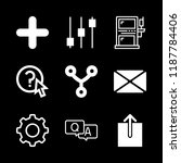 service icons set with chat ... | Shutterstock .eps vector #1187784406