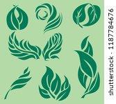 vector set of rose flowers... | Shutterstock .eps vector #1187784676