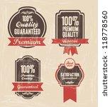 Stock vector illustration of retro label vintage labels vector illustration 118778560
