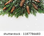 noel flatlay composition with...   Shutterstock . vector #1187786683