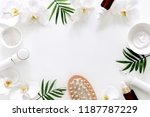 spa treatment concept  flat lay ... | Shutterstock . vector #1187787229