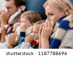 close up shot of sick young... | Shutterstock . vector #1187788696