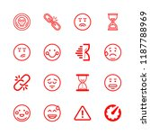 16 stress icons with... | Shutterstock .eps vector #1187788969