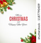 merry christmas and new year... | Shutterstock .eps vector #1187790409