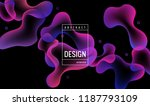 liquid gradient color... | Shutterstock .eps vector #1187793109
