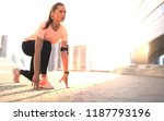young fitness attractive sporty ... | Shutterstock . vector #1187793196